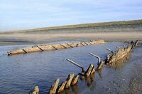 Zeitreise: Vor Zandvoorts Küste tritt 140 Jahre altes Schiffswrack zu Tage