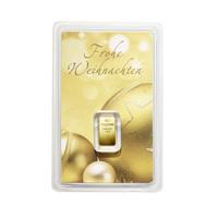 Goldbarren und Münzen als Weihnachtsgeschenk verbinden Glanz und Werte