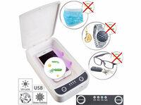 Somikon UV-Desinfektions-Box für Smartphone, Brille, etc.