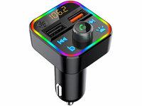 auvisio Kfz-FM-Transmitter FMX-550.BT mit Bluetooth