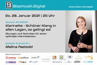 Online Seminar: Klarinette - Schöner Klang in allen Lagen