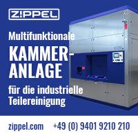 Zippel-Premium-Reinigungstechnik mit Hoch- oder Niederdruck.   Zippel KLT/ Multifunktionale Kammeranlage zur Reinigung von Kleinladungsträgern.