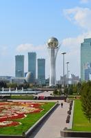 WAHLEN-2021 IN KASACHSTAN. Atmosphäre der Ruhe unter strengen sanitären Vorschriften