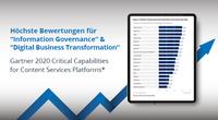 """SER Group erhält höchste Bewertungen für  """"Information Governance"""" & """"Digital Business Transformation"""""""