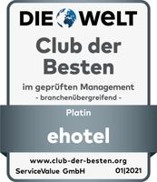 ehotel® als Platin-Service-Champion im Club der Besten 2021