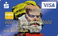 Karl Marx als Kreditkarten-Motiv im Pop Art-Stil