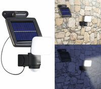 Luminea Solar-LED-Wandfluter für außen, PIR-Sensor