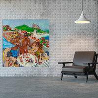 Leinwandbild als Botschaft - brasilianische Kunst im Fokus