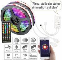 Luminea Home Control WLAN-RGB-LED-Streifen