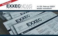 Neuerscheinung ab 23. Februar 2021: EXXECNEWS INSTITUTIONAL