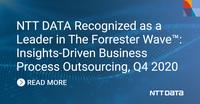 Forrester zeichnet NTT DATA als Leader bei Insights-Driven Business Process Outsourcing aus