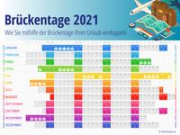 Brückentage 2021: So verdoppeln Sie Ihren Urlaub!