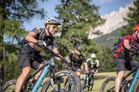 E-Mountainbiken in Südtirol mit Weltmeister Meike Kluge
