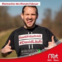 David Fritsch wird mit #DavidLäuft Mutmacher des Monats Februar