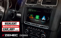 Highlight - ZENECs Z-E2055 Infotainer für VW Golf V / VI