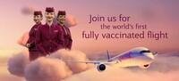 Qatar Airways: weltweit erster Flug mit geimpften Crewmitgliedern und Passagieren