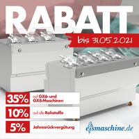35% Rabatt auf alle GX6 oder GX8 Modelle bei eismaschine.de
