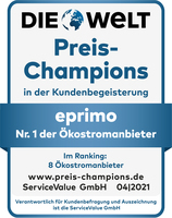 """eprimo erneut """"Preis-Champion"""" bei Ökostrom und Ökogas"""