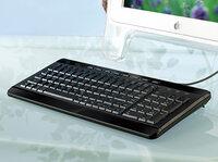 """GeneralKeys Kompakte USB-Multimedia-Tastatur """"Light Key"""""""