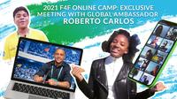 Roberto Carlos exklusiv: Globaler Botschafter von Football for Friendship stellt sich den Fragen junger Teilnehmer aus aller Welt