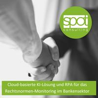 spot.consulting entwickelt erste Cloud-basierte KI-Lösung und RPA für das Rechtsnormen-Monitoring im Bankensektor