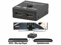 auvisio 2-Port-HDMI-2.0-Splitter & -Switch