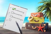 Die wichtigsten Punkte auf einer Urlaubs-Checkliste