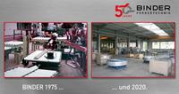 50 Jahre Binder GmbH - Eigene Homepage führt durch die Firmengeschichte