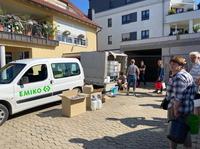 EMIKO mit OBI - gemeinsam mit Drucksprühern und EM gegen Feuchtigkeit und Schimmel in den Hochwassergebieten