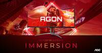 "So sehen Sieger aus: 49"" Curved-Gaming-Monitore AGON AG493UCX2 und AG493QCX von AGON by AOC"