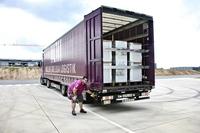 Hans Fischer Logistics und Müller - Die lila Logistik übernehmen Transporte für Spendenaktion von Bauknecht nach Hochwasserkatastrophe