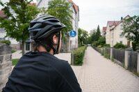 Radeln mit Kopfhörern: Auf die Lautstärke kommt es an
