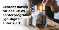 "Content moves ab sofort ""go-digital""-Partner"