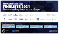 20 Deep-Tech Jungunternehmen im Finale der EIT Digital Challenge 2021 - auch vier deutsche Unternehmen unter den Finalisten