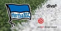 diva-e erhält Red Dot Award für neue Hertha BSC-Website