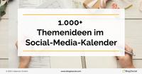 Der Social-Media-Kalender 2022 - 1.000+ Ideen für die Redaktionsplanung