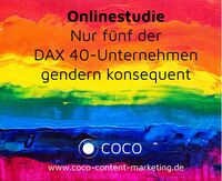 Onlinestudie: Nur fünf der DAX 40-Unternehmen gendern konsequent