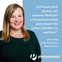 Willkommen bei plentymarkets: Lisa Haak wird neuer Head of Business Development
