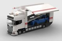 Für alle Scania und LEGO Fans: Scania Autotransporter mit Laderampe und Flügeltüren