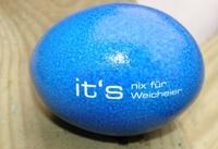 Ostereier als pfiffige Hingucker mit Logo-Obst.com