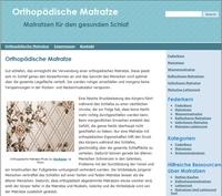 Neue Webseite für orthopädische Matratze wurde eröffnet