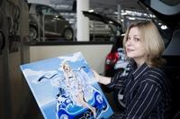 Dresden  - Kunst - Austellung-  Kunstausstellung von Valerie Ry Andersen in der Mercedes-Benz Niederlassung verlängert.