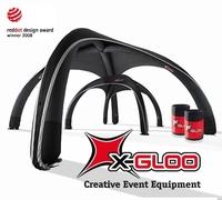 X-GLOO Event-Zelte auf der ISPO ON SNOW DEMO