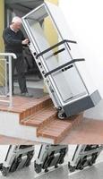 Schaltschrankbau Lohmeier stellt neuen elektrischen Treppensteiger für den Transport von Schaltschränken vor