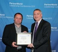 Preisverleihung auf der IBM PartnerWorld