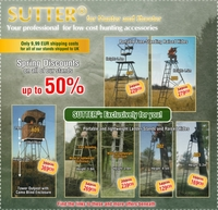 SUTTER®: Spring Discounts on all of its stands - Reduced up to 50%!