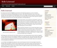 Neues Informationsreiches Portal über Rollo Leinwand