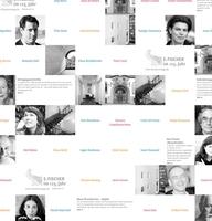 Jubiläums-Collage für den S. Fischer Verlag