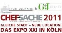 CHEF-SACHE 2011 gastiert vom 18. bis 19. September 2011 im EXPO XXI in Köln