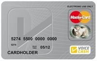 The NEW VoiceCash Single Prepaid MasterCard® - a Card for EVERYONE